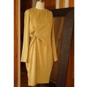 Make an offer!💛 Beautiful Chartreuse drape dress